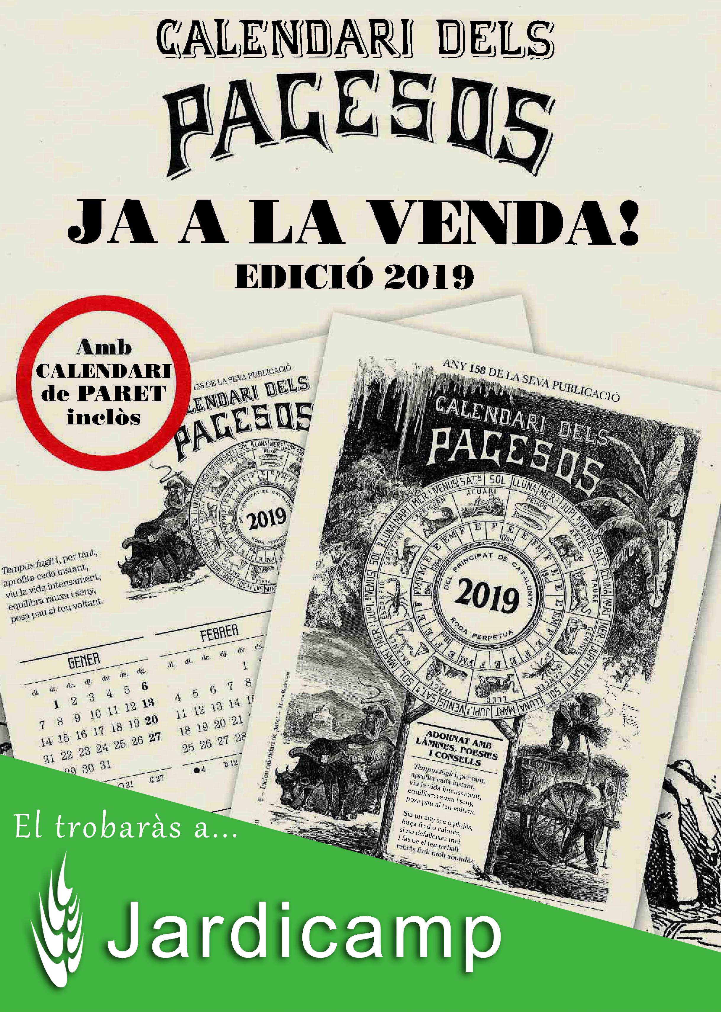 Calendari dels pagesos 2019